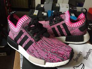 36795cc485e5f Adidas NMD R1 PK W Women Primeknit Shock Pink Core Black Glitch Camo ...