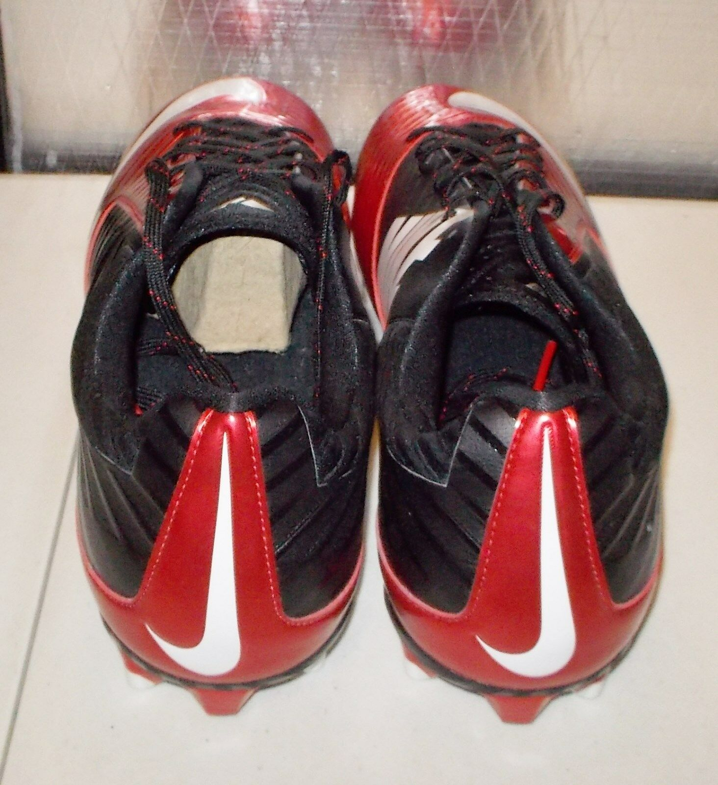 new concept 718be e6512 ... NIKE VAPOR SPEED LOW TD Football Football Football Cleats MENS 15 Game  Red Black 643152 610