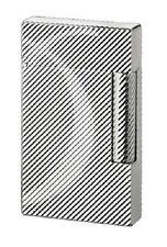 16931 Dupont / Ligne 2 D / accendino / finitura argento laminato