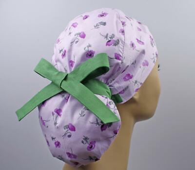 Pine Scrub Cap LongShort Hair Women Scrub Cap Medical Cap Ponytail Flower Surgical Cap Easter Gift Nurse Gift Surgical Cap Women