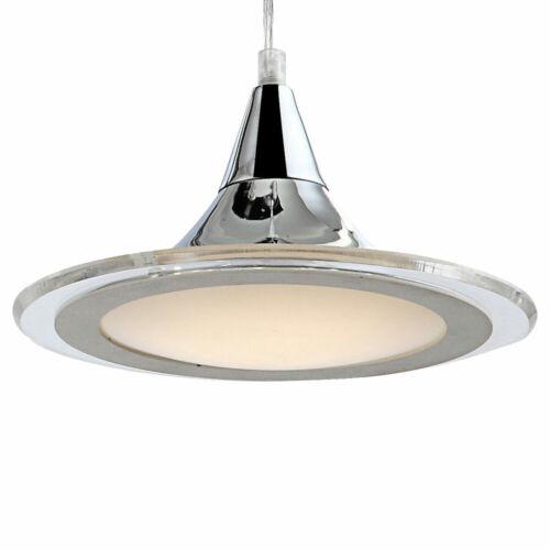 Design LED Hängelampe Esszimmer Küchenleuchte Lichtsschiene silber 3-flammig