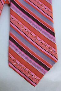 Robert Talbott Peach with Multi Color Stripes Best of Class Tie