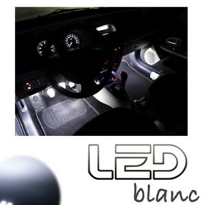 FORD-Mondeo-MK3-2-Ampoules-LED-Blanc-Sols-tapis-anti-erreur-White-light-footwell