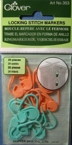 Your Choice NEW CLOVER KNITTING STITCH MARKERS Soft Locking Split Ring
