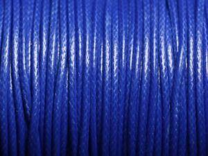 5-metres-Cordon-coton-cire-enduit-Rond-2mm-Bleu-Roi-4558550088376