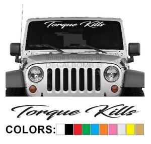 Torque-Kills-Windshield-Decal-Sticker-Vinyl-Sticker-Truck-Diesel-Turbo-Lift-Mud