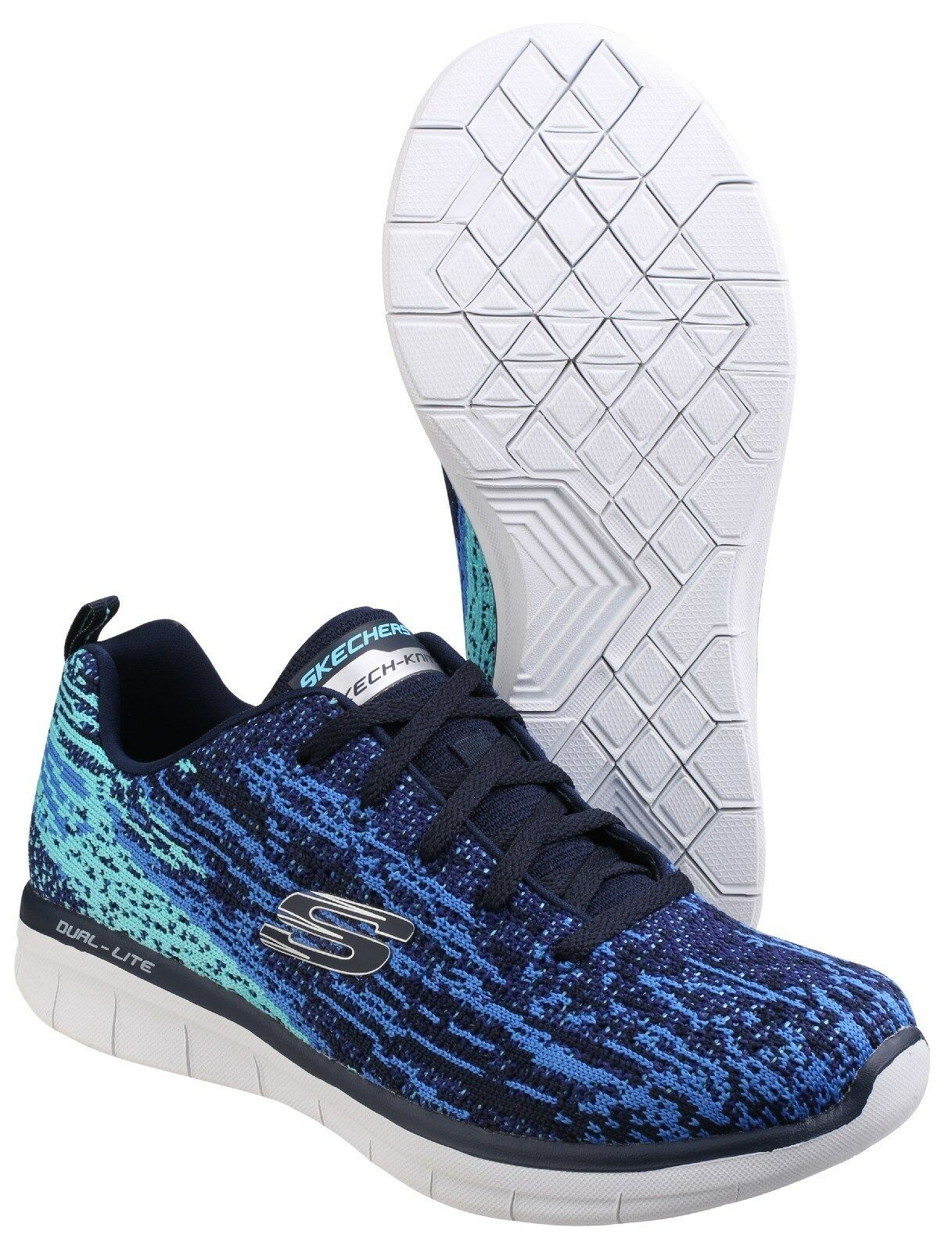 Skechers Synergy 2.0 2.0 Synergy High Spirits Trainers Memory Foam Sports Knit Damenschuhe Schuhes c7138c