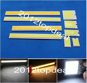 12v-2W-6W-COB-LED-Square-Strip-Light-High-Power-Lamp-Bead-Chip-Warm-Cool-White