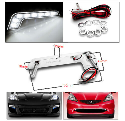 BUMPER DRL FOR 2004-2008 ACURA TSX CL9 CHROME SET PROJECTOR LED BAR HEADLIGHTS
