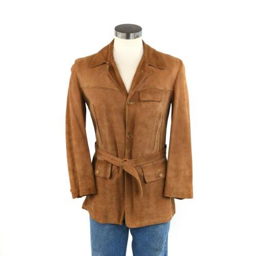Vintage 30s 40s Californian Brown Belted Back Sued