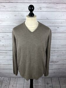 REISS-Jumper-Size-XL-Brown-Great-Condition-Men-s
