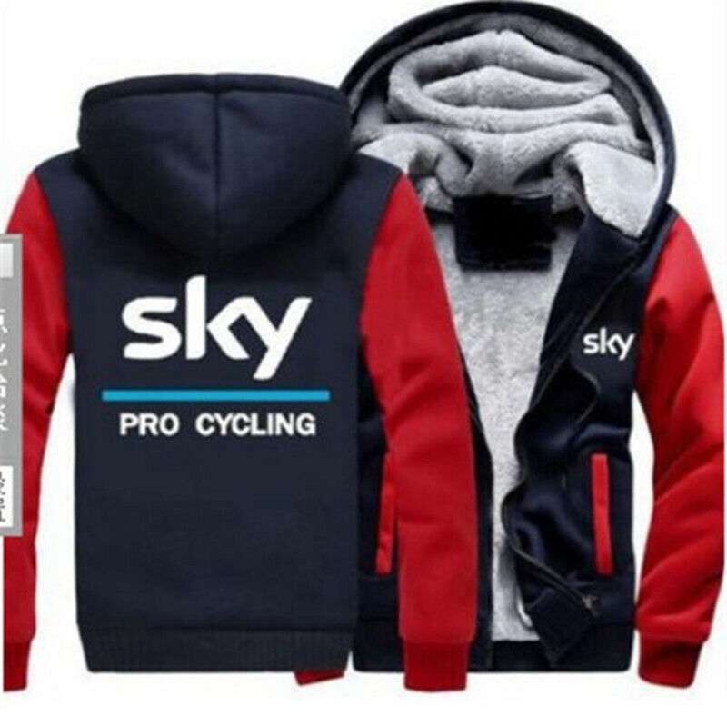 SKY UCI PRO TEAM Thick Hoodies Casual Jacket Coat Cosplay Sweatshirts Unisex