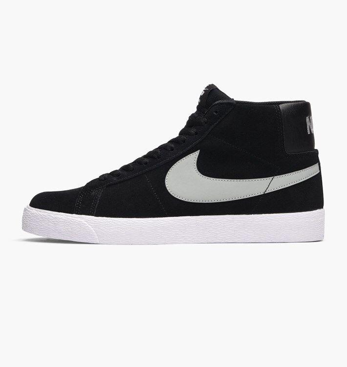 Nike SB Blazer Premium SE Mid Base Grey Black White Gum 631042-003 Multi Size