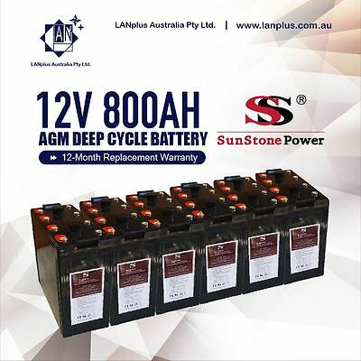 12V 800AH Sealed AGM Deep Cycle Maintenance Free Solar Battery Bank Off Grid Sys