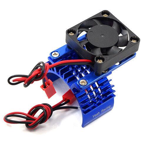Blue motor heatsink /& fan kit for 1:10 RC may sut Tamiya Sakura HPI TRAXXAS