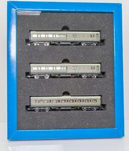 Dapol-2P-012-253-N-Gauge-Maunsell-SR-Coach-set-394-lined-SR-green