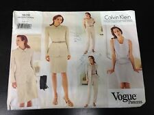 3638f3e2003 Calvin Klein Vogue 2850 Denim Skirt Jeans Sewing Pattern 4 6 8 Uncut ...