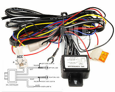 LED Day Running Light DRL Relay Harness Automatic On Off Control Hummer SMD Redu