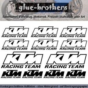 KTM-Aufkleber-Set-Racing-Team-Farbwahl-Motorsport-Decal-Sticker-Sponsoren-Rahme
