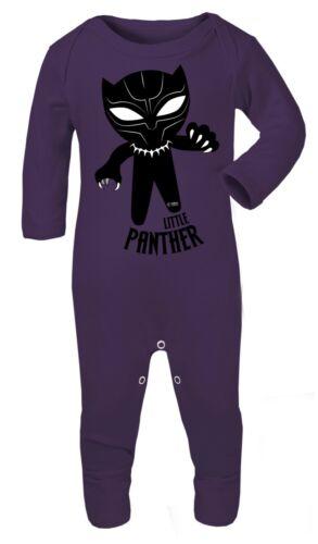 Black Panther Superhero 0-24 Bodysuit Babygrow Playsuit Cotton Gift Baby Romper