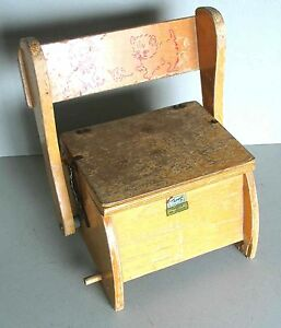Swell Details About Vintage Thayer Tops For Tots Folding Wood Potty Chair Childs Free Sh Spiritservingveterans Wood Chair Design Ideas Spiritservingveteransorg