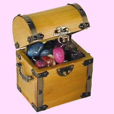 Vintage Mini Treasure Lychee Pirate Jewelry Storage Box Case Holder New MA