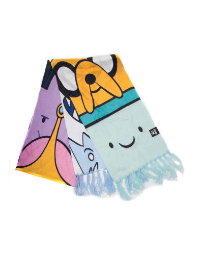 NEW ALL OVER CHARACTERS THIN SUMMER SCARF OFFICIAL ADVENTURE TIME