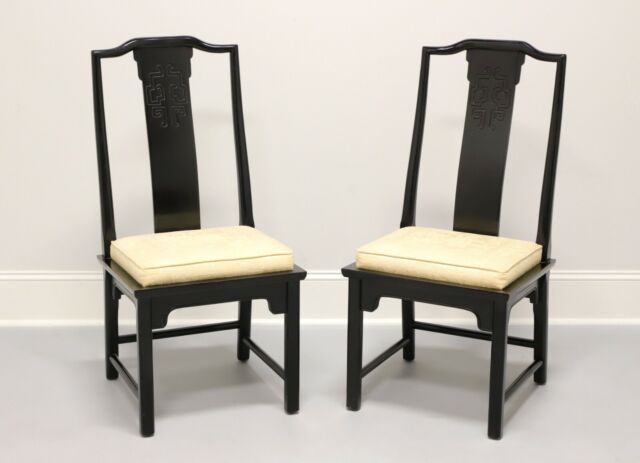 Century Chin Hua Raymond Sobota Asian Chinoiserie Dining Side Chairs Pair For Sale Online Ebay