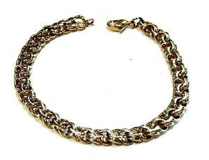 Bijou plaqué or 18 carats bracelet superbe maille fantaisie idéal pour cadeau