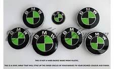 BLACK &GREEN CARBON BMW Badge Emblem Overlay HOOD TRUNK RIMS FITS ALL BMW MSPORT