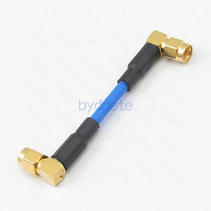"""RG402 cable RP-SMA female to RP-SMA male right angle RF LOW LOSS Semi Flexible /"""""""