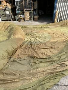 GENUINE FRENCH ARMY SURPLUS PARACHUTES GRD 2!! SLIGHT RIPS AND CORDS CUT!!