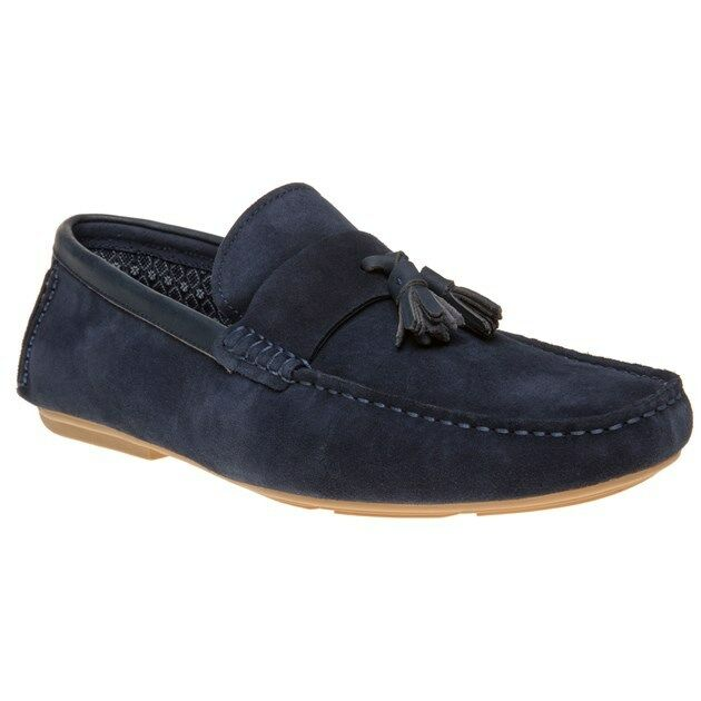 New Mens SOLE Blue Miles Suede Shoes Driving Slip On