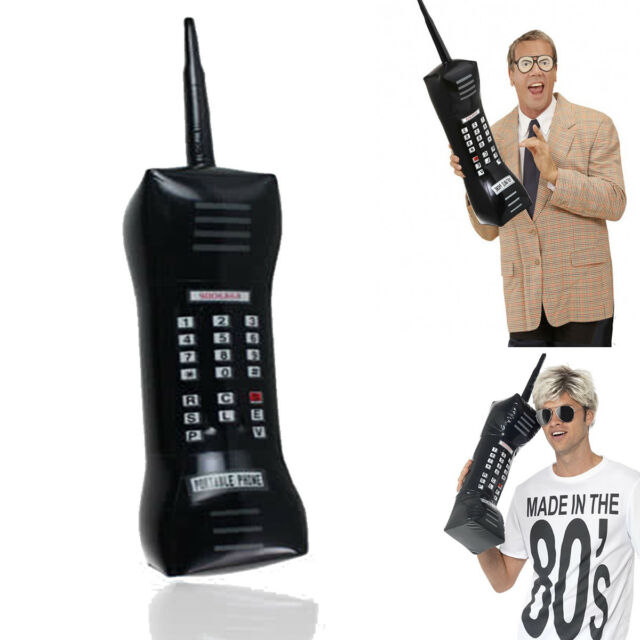 80's Inflatable Mobile Phone 76 cm Stag Fancy Dress Accessory