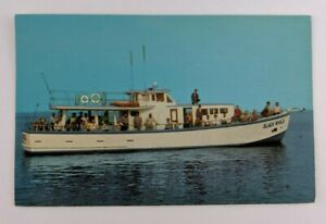 Postcard-Black-Whale-Fishing-Boat-Beach-Haven-New-Jersey