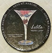 MARTINI LUNCH climb up the ladder LOLITA glass hand-painted LOVE MY MARTINI