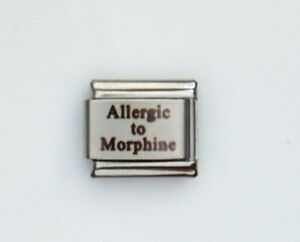 Allergic To Morphine Medical Alert For Italian Charm Bracelets