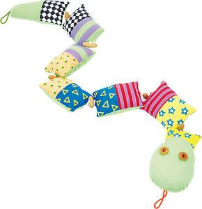 Domino-Schlange-Stoffkissen-Plueschtier-small-foot-bunt-Baby-Spielzeug