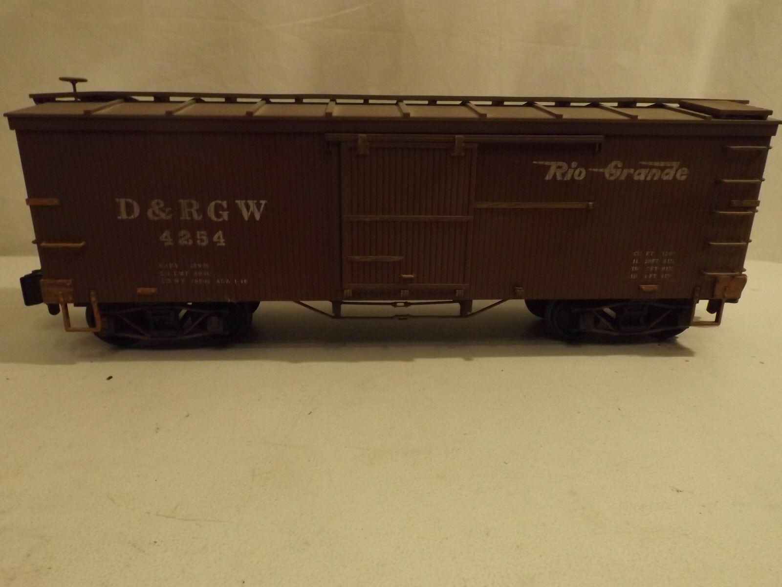 G scale Delton Delton Delton D&RGW boxcar in original box 11e28a