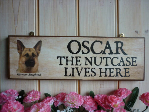Chien plaque commémorative fait main en bois en mémoire signe berger allemand memorial signe