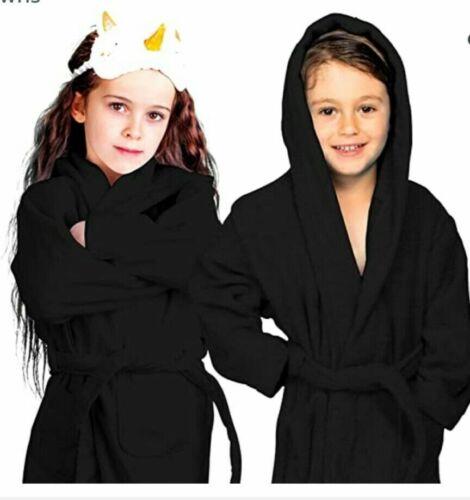 Unisex Bath Towel Girls Boys Hooded Dryrobe Terry Kids Hoodie Dressing Gown