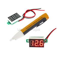 Ac Voltage Power Detector Dc47 32v Mini Red Led Panel Voltage Meter Voltmeter