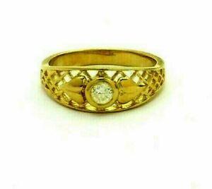 18ct 18k 750 Gold Diamond Ring Custom Made