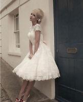 Free Shipping Lace Short Wedding Dress See Through Vintage Bridesmaid Dresses