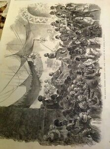 J1-7-Ephemera-1863-Picture-Folded-Sultan-039-s-Progress-Through-Cairo