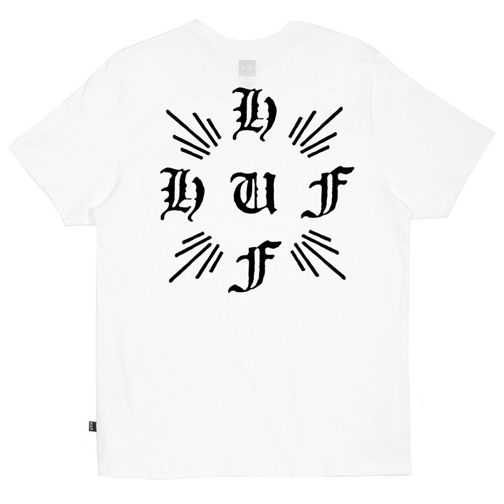 HUF CROSSED LOGO TEE SHIRT WHITE