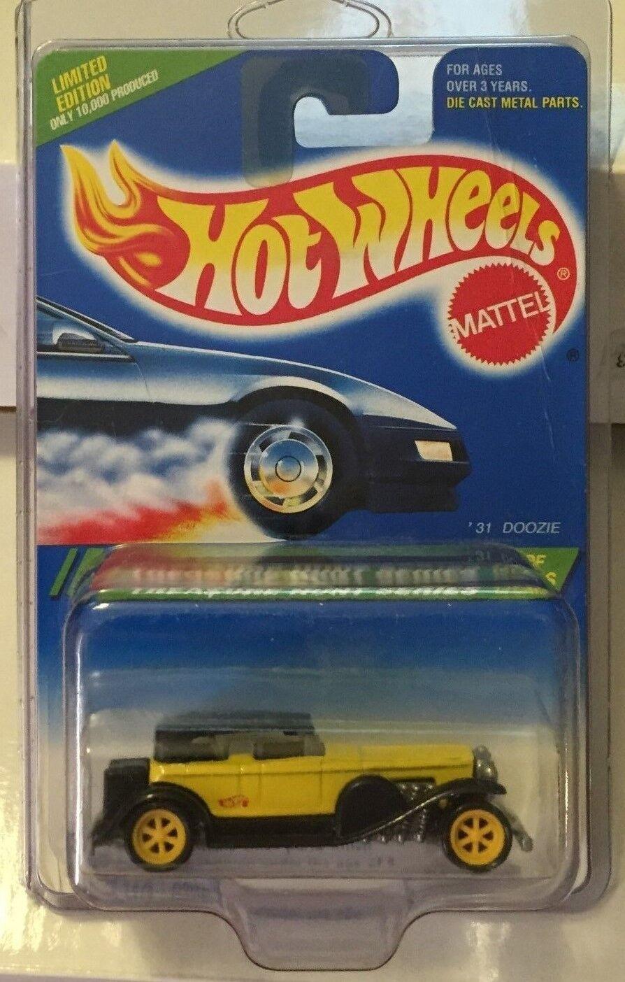 Hot Wheels 1995 busca tesoros, negro amarillo, 31 doozie W   6, 35, 12   12.