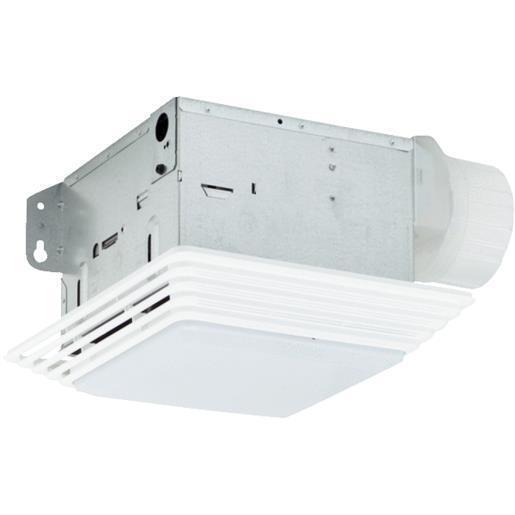 Broan Ceiling Exhaust Bath Fan 50 Cfm With Light Bathroom: Broan Nutone 678 50 CFM 2.5 Sones Ceiling Eco Exhaust Bath