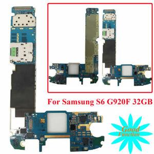 Gebraucht-32GB-Unlocked-Motherboard-Hauptplatine-Fuer-Samsung-Galaxy-S6-SM-G920F
