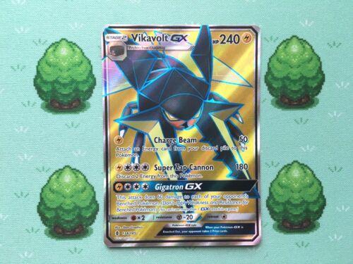 134//145 Pokemon SM Guardians Rising Full Art Vikavolt GX